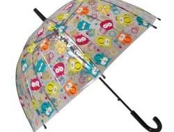 Dáždnik sovičky priehľadný