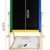 Multifunkčná obojstranná tabuľa 42 x 35 cm
