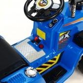 Traktor 12V, s mohutnými kolesami a konštrukcií, zvukovými a svetelnými LED efektmi,  2x náhon,
