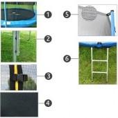Trampolína 252 cm + Sieť+Rebrík- max. záťaž 150 Kg