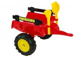 Vlek za traktor Trailer s lopatou a hrabľami, 2 kolesový, dĺžka 56cm