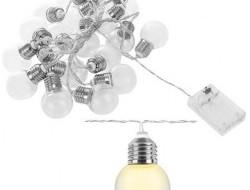 LED svetelná reťaz žiarovky teplá biela 20ks