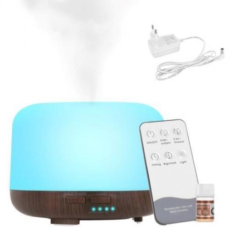 Aromatický difúzer - LED zvlhčovač vzduchu s diaľkovým ovládaním
