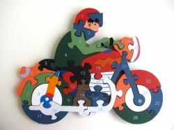 Vzdelávacie drevené puzzle- až 7 motívov