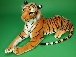 Veľký plyšový tiger dĺžky 170cm, oranžový