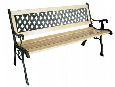 Záhradná lavička z masívneho kovu 120cm
