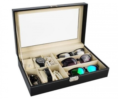 Organizér na brýle a hodinky box na 9ks