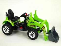 Traktor Kingdom s ovládateľnou nakladacou lyžicou, mohutnými kolesami a konštrukcií, 2x motor 12V, 2x náhon