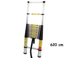 Teleskopický alu rebrík 6,2m s prepravnou taškou