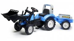 Šlapací traktor Landini Powermondial 115 s funkčnou prednou lyžicou