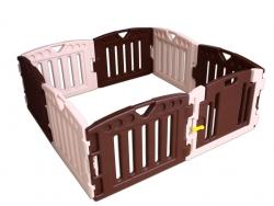 Plastová detská rychloskládací ohrádka, do štvorca, obdĺžnika, osemhranu, s dverami, zostavenie za 8 minút, 8 PLAY