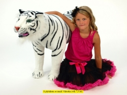 Plyšový stojaci tiger biely 178 cm