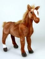 Krásny plyšový koník, hnedák, maznáčik detí, 78cm