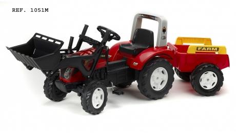 Šľapací traktor Falk Ranch s funkčnou prednou lyžicou