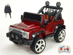 Džíp rover Courage s 2.4G DO, 6 rýchlostí, EVA kolesami, otváracími dverami, voltmetrom, FM, USB, 12V, lakovaný vínovou metalízou