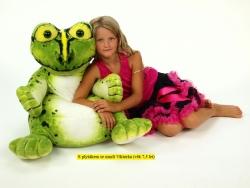 Plyšové detské kresielko žaba, výšky 64 cm