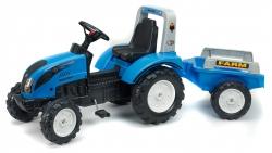 Šlapací traktor Landini Powermondial 115 s 2 kolesovým prívesom