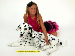Plyšový dalmatín s mláďaťom, dĺžky 110 cm