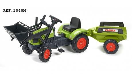 Šlapací traktor Claas Arion 410 s funkčnou prednou lyžicou