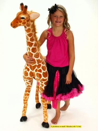 Plyšová žirafa stojaca výšky 137 cm