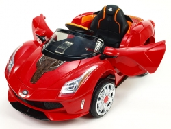Rallye Ferrato s DO, otváracími dverami, pružením oboch náprav, super LED efekty, 12V