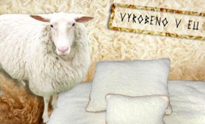 Hrejivá deka a vankúše z ovčej vlny