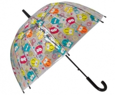 Dáždnik Sovy priehľadný