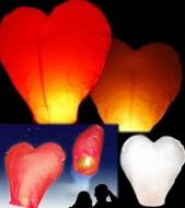 Lampióny ŠŤASTIA v tvare Srdca 5ks alebo 10 ks v baleni