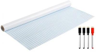 Samolepiaca tabuľa na fixy 200x45cm biela