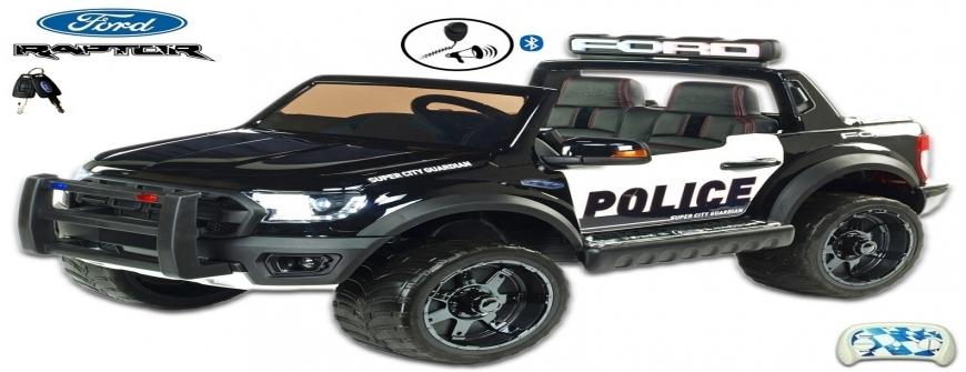 Elektrické autíčko Ford Raptor polícia USA, dvojmiestne